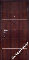 Входные двери Новосёл С 3 ПМЛ Молдинг горизонтальный Темный орех